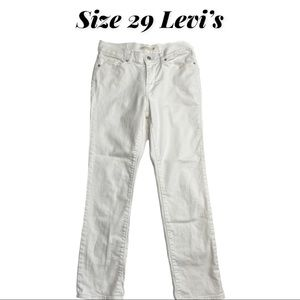 Size 29 Levi's White Classic Straight Jeans